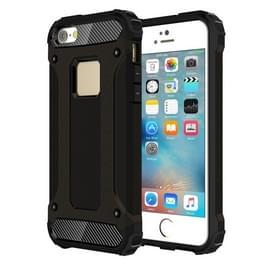 Harde Armor TPU + PC combinatie Case voor iPhone SE & 5 & 5s(Black)