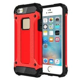 Harde Armor TPU + PC combinatie Case voor iPhone SE & 5 & 5s(Red)