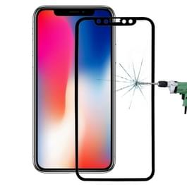 Voor iPhone X 0 26 mm 9H oppervlakte hardheid 3D explosieveilige volledige scherm Carbon Fiber zachte randen getemperd glas scherm Film(Black)