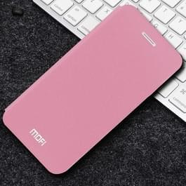MOFI voor iPhone X Frosted textuur horizontale Flip lederen draagtas met houder (roze)