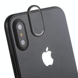 Rear Camera Lens bescherming Cover voor iPhone X(Black)