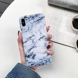Volledige dekking glanzende marmer textuur Shockproof TPU Case voor iPhone XS Max