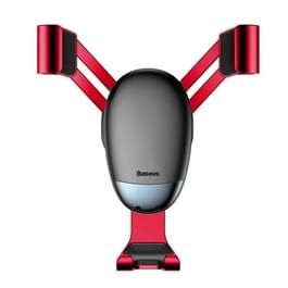 Baseus SUYL-G09 Mini Gravity Car Air Vent Mount Holder for 4-6.5 inch Smart Phones(Red)