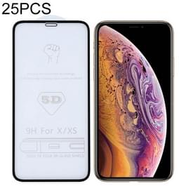 9H 5D Full Glue Full Screen Tempered Glass Film for iPhone X / XS / 11 Pro