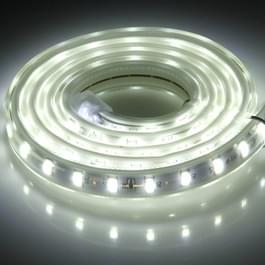 1m LED Light Strip  72 LED/m  72 LEDs SMD 5730 IP65 waterdicht met stekker  AC 220V (wit licht) behuizing