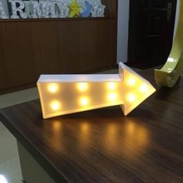 Creatieve pijl teken vorm Warm wit LED decoratie Light  2 x AA batterijen aangedreven partij Festival tabel bruiloft Lamp nacht Light(White)