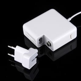 MagSafe 1 85W 18.5V 4.6A 5-pins L-stijl Oplader voor MacBook A1286 / A1211 / A1290 / A1297 / A1222 / A1343 / A1260 / S1175 / A1212  Kabel lengte: 1.7 meter  EU plug Wit
