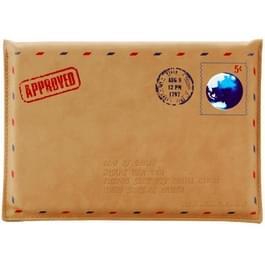SWISH universeel envelop stijl aarde stempel lederen hoesje voor Macbook 13 3 inch  Afmeting: 36 x 25 cm