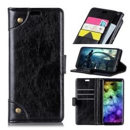 Koperen gesp Nappa textuur horizontale Flip leren Case voor Vodafone Smart X9  met houder & kaartsleuven & portemonnee (zwart)
