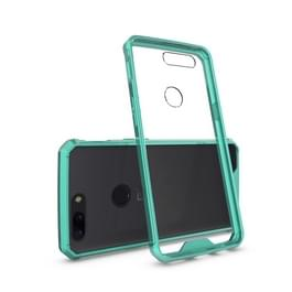 Voor OnePlus 5T Cover acryl + TPU schokbestendige transparant Armor beschermende back cover (groen)