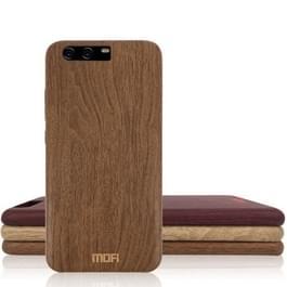 MOFI voor Element serie Huawei P10 Plus houtstructuur zachte beschermende Back Cover Case (bruin)