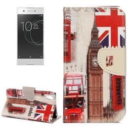 Voor Sony Xperia XA1 Ultra London Big Ben patroon horizontaal Flip lederen hoesje met houder & opbergruimte voor pinpassen & portemonnee