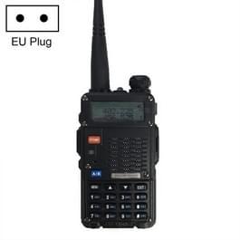 BaoFeng BF-F8HP 8W dual-band twee-weg Radio VHF UHF handheld walkie talkie  EU-stekker (zwart)