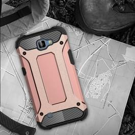 LG K4 Robuust pantser beschermend TPU + plastic back cover Hoesje (roze goudkleurig)