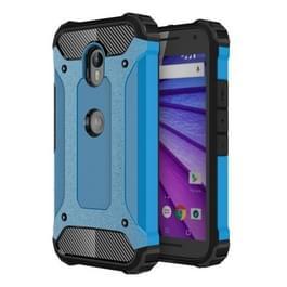 Voor Motorola Moto G (3rd gen) harde Armor TPU + PC combinatie Case(Blue)