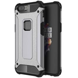 Voor OnePlus 5 magische Armor TPU + PC combinatie Case(Grey)