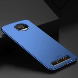 MOFI voor Motorola Moto Z2 Play / XT 1710-08 berijpte PC ultra dunne rand volledig ingepakt beschermhoes terug Cover(Blue)
