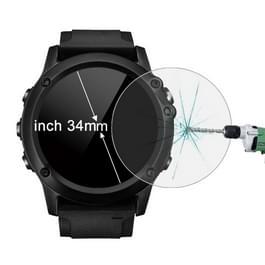 ENKAY Hat-Prins voor 34mm Diameter circulaire Dial Smart Watch 0.2mm 9H oppervlaktehardheid 2.15D gebogen explosieveilige gehard glas scherm Film