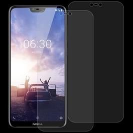 2 stk 0 26 mm 9H 2.5D getemperd glas Film voor Nokia X 6