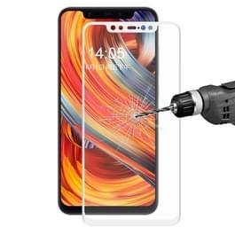ENKAY Hat-Prins 0.2mm 9H 3D volledig scherm koolstofvezel getemperd glas Film voor Xiaomi Mi 8 (wit)
