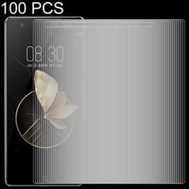100 stuks 0 26 mm 9H 2.5D Tempered glas Film voor ZTE nubia Z17