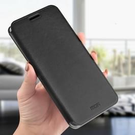 MOFI Crazy Horse textuur horizontale Flip Shockproof lederen draagtas voor Nokia 8 sirocco  met Holder(Black)