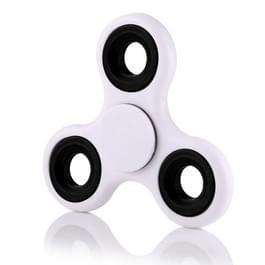 Fidget Spinner Speeltje tegen stress en angst voor kinderen en volwassenen  1.5 Minuut Rotatie Tijd  ABS materiaal met grote metalen balletjes wit