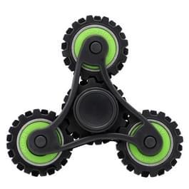 Fidget Spinner Speeltje tegen stress en angst voor kinderen en volwassenen  4 Minuten Rotatie Tijd  Plastic materiaal met kleine metalen balletjes  Tandwielvormig (groen)