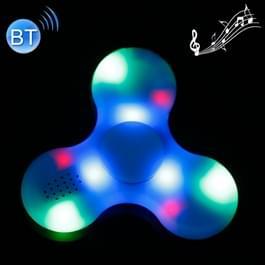 Fidget Spinner met Bluetooth V4.0 en RGB LED verlichting Speeltje tegen stress en angst voor kinderen en volwassenen, 1.5 Minuut Rotatie Tijd, ABS materiaal met grote metalen balletjes (blauw)