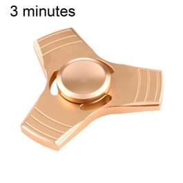 Fidget Spinner Speeltje tegen stress en angst voor kinderen en volwassenen  3 Minuten Rotatie Tijd  Aluminum legering met kleine metalen balletjes  Driebladig (goudkleurig)