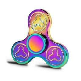 K2 Fidget Spinner Speeltje tegen stress en angst voor kinderen en volwassenen, 3.5 Minuten Rotatie Tijd, Zink legering met grote metalen balletjes, Kleurrijk en Driebladig