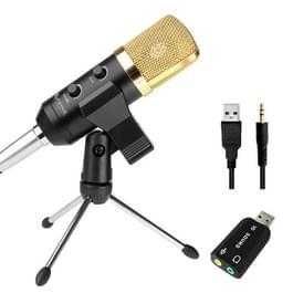 FIFINE K028 universele Handheld Microfoon met Tripod standaard voor PC  Laptop & audio apparatuur en USB2.0 Koptelefoon plug  Kabel lengte: 2.5 meter
