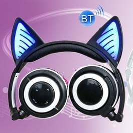 Opvouwbare Wireless Bluetooth V4.2 Glowing kat Ear hoofdtelefoon Gaming Headset met LED licht & Mic  voor iPhone  Galaxy  Huawei  Xiaomi  LG  HTC en andere slimme Phones(Black)