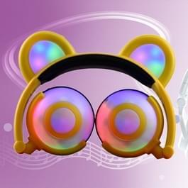 USB opladen opvouwbare Glowing dragen Ear hoofdtelefoon Gaming Headset met LED-verlichting  voor iPhone  Galaxy  Huawei  Xiaomi  LG  HTC en andere slimme Phones(Yellow)