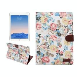 Bloemens kleding patroon horizontaal Flip lederen hoesje met slaap / wekker functie & houder & opbergruimte voor pinpassen & portemonnee voor iPad Pro 9.7 inchwit