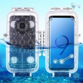 PULUZ 40m / 130ft waterdichte duiken huisvesting Foto Video nemen onderwater Cover Case voor Galaxy S9(Transparent)