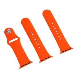 Voor de Apple Watch Sport 38mm High-performance gewone & langer Rubber Sport horlogeband met Pin-en-tuck Closure(Orange)
