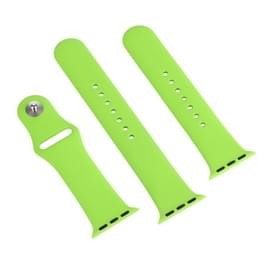 Voor de Apple Watch Sport 38mm High-performance gewone & langer Rubber Sport horlogeband met Pin-en-tuck Closure(Green)