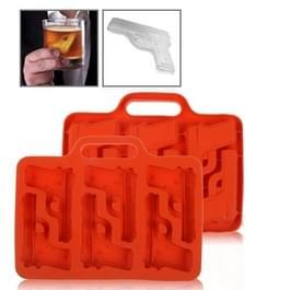 Silicon Handgun-vormige Ice Cube lade (willekeurige Delivery)(Red)