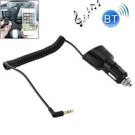 Auto lader Bluetooth 3.5mm AUX Audio ontvanger Music Adapter met USB-poort voor iPad / iPhone 5 & 5 C & 5S / iPhone 4 & 4S / Galaxy S IV / S III  DC 5V / 2.1a  kabel lengte: 30 cm (kan worden uitgebreid tot 95cm)(Black)