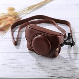 Retro-stijl Camera Case leerzak met riem voor Sony RX100 M3 / M4 / M5 (koffie)