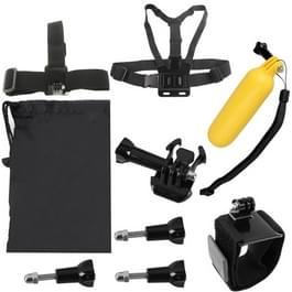 YKD-105 9 in 1 Chest Belt + Wrist Belt + Head Strap + Floating Bobber Monopod + Carry Bag + Screws Set for GoPro HERO4 /3+ /3 /2 /1 / SJ4000