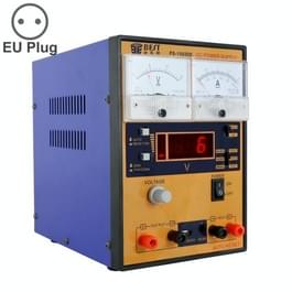 BEST BST-1502DE-AC 220V GSM reparatie Tool-15V 2A DC geregeld voeding  EU Plug (blauw + oranje)