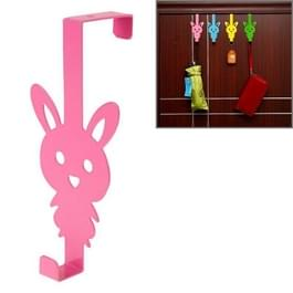 Creatieve Cartoon konijn ijzeren deur Post Hook(Pink)