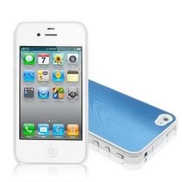 iPhone 4 & 4S Aluminium back cover Hoesje (blauw)
