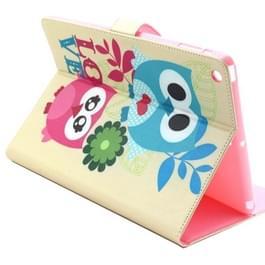 Uilen in liefde patroon horizontale Flip Smart Case met houder & Card Slots & portefeuille voor iPad Air / iPad 5