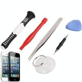 6 in 1 (zuignap + Koevoet + Pry paneel + pincet + schroevendraaier handvat + Dual schroevendraaier Hand) speciale Opening Tools Sets voor iPhone 5 & 5S & 5C / iPhone 4 & 4S