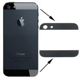 OEM versie terug Cover Top & onder glaslens voor iPhone 5 (zwart)