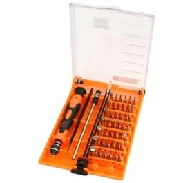 JAKEMY JM-8128 magnetische verwisselbare 45 in 1 multifunctionele precisie schroevendraaier Set reparatie Tools voor de iPhone / iPad / PC