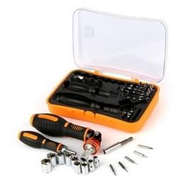 JAKEMY JM-6102 43 in 1 multifunctionele Rachet Socket schroevendraaier met Sockets + Bits